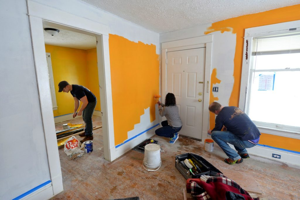 Well House Volunteers Remodeling a Home